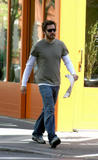 4/18 Jake Gyllenhaal has lunch in the West Village