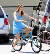 Isabel Lucas - Riding a bike LA 24th Aug 2010 - Usersub